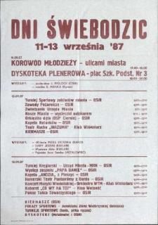 Dni Świebodzic 11-13 września 1987 r.