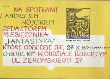 """Miejska Biblioteka Publiczna zaprasza na spotkanie z Andrzejem Wójcikiem, redaktorem miesięcznika """"Fantastyka"""""""