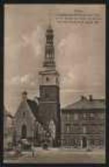 Ohlau – Evangelische Kirche mit dem Turm in der Gestalt vor seiner Zerstörung durch den Orkan am 21 August 1881 [Dokument ikonograficzny]