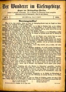 Der Wanderer im Riesengebirge, 1881, nr 1