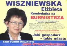 Wiszniewska Elżbieta. Kandydatka na burmistrza
