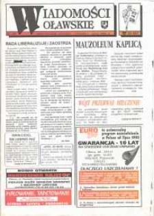 Wiadomości Oławskie, 1993, nr 20 (59)
