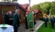 """Sztandar Koła Łowieckiego """"Darz Bór"""" w Jeleniej Górze [Dokument ikonograficzny]"""