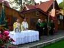 """Poświęcenie nowego sztandaru Koła Łowieckiego """"Darz Bór"""" z Jeleniej Góry 3 [Dokument ikonograficzny]"""