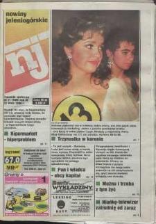 Nowiny Jeleniogórskie : tygodnik społeczny, R. 38, 1996, nr 21 (1980)