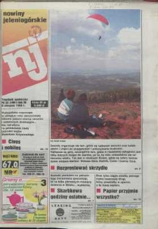 Nowiny Jeleniogórskie : tygodnik społeczny, R. 38, 1996, nr 32 (1991)