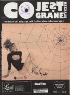 Co Jest Grane : wrocławski miesięcznik kulturalno-informacyjny, 1997, nr 1 (35)