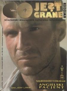 Co Jest Grane : wrocławski miesięcznik kulturalno-informacyjny, 1997, nr 4 (38)