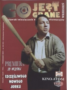 Co Jest Grane : wrocławski miesięcznik kulturalno-informacyjny, 1997, nr 9 (43)
