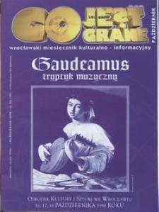 Co Jest Grane : wrocławski miesięcznik kulturalno-informacyjny, 1998, nr 10 (56)