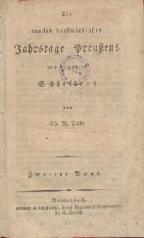 Die neusten ben benkwurrdigsten Jahrstage preusens und besonders Schlesiens. Bd. 2