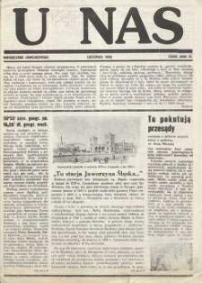U Nas : miesięcznik jaworzyński, 1992, nr 1
