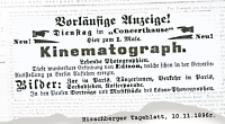 Kinematograph : ogłoszenie prasowe