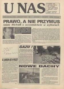U Nas : miesięcznik jaworzyński, 1993, nr 7