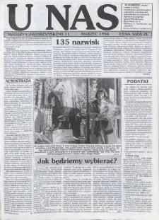 U Nas : miesięcznik jaworzyński, 1994, nr 11