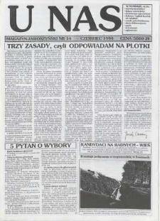 U Nas : miesięcznik jaworzyński, 1994, nr 14