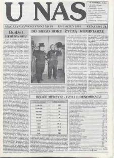 U Nas : miesięcznik jaworzyński, 1994, nr 18