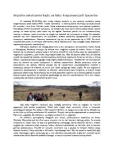 Wspólne zakończenie Rajdu na Raty i Krajoznawczych Spacerów [Dokument elektroniczny]