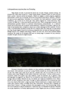 Listopadowa wycieczka na Śnieżkę [Dokument elektroniczny]