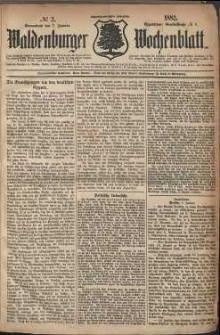 Waldenburger Wochenblatt, Jg. 28, 1882, nr 2