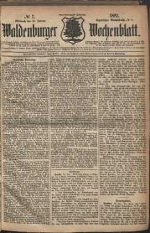Waldenburger Wochenblatt, Jg. 28, 1882, nr 7