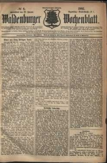 Waldenburger Wochenblatt, Jg. 28, 1882, nr 8