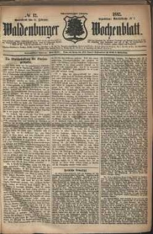 Waldenburger Wochenblatt, Jg. 28, 1882, nr 12