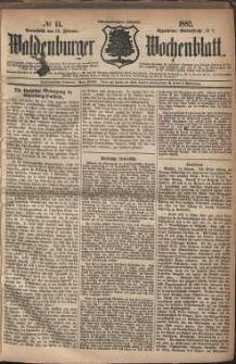 Waldenburger Wochenblatt, Jg. 28, 1882, nr 14