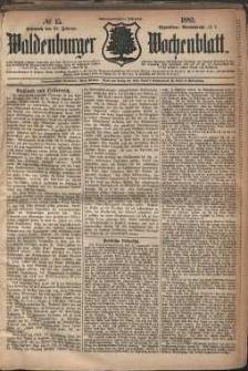 Waldenburger Wochenblatt, Jg. 28, 1882, nr 15
