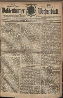 Waldenburger Wochenblatt, Jg. 28, 1882, nr 18
