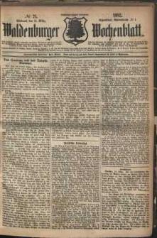 Waldenburger Wochenblatt, Jg. 28, 1882, nr 21