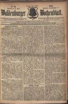 Waldenburger Wochenblatt, Jg. 28, 1882, nr 29