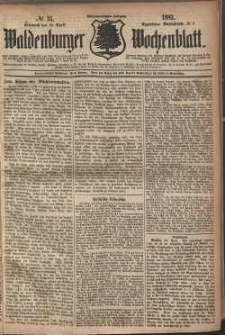 Waldenburger Wochenblatt, Jg. 28, 1882, nr 31