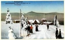 Riesengebirge. Schwarzschlagbaude 1300 m ü. M. Blick nach der Schneekoppe [Dokument ikonograficzny]