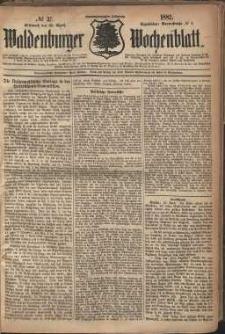 Waldenburger Wochenblatt, Jg. 28, 1882, nr 33