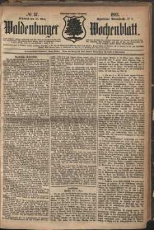 Waldenburger Wochenblatt, Jg. 28, 1882, nr 37