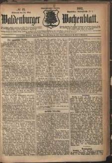Waldenburger Wochenblatt, Jg. 28, 1882, nr 41