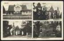 Gruss aus Markstädt – Bahnhof, Schloß, Kirche, Kriegerdenkmal [Dokument ikonograficzny]