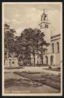 Ohlau – Schloßplatz mit Kirche [Dokument ikonograficzny]