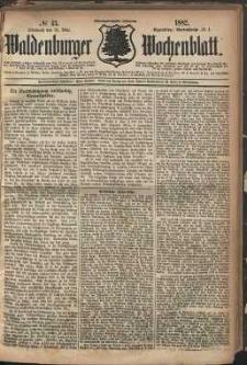 Waldenburger Wochenblatt, Jg. 28, 1882, nr 43