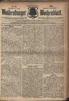 Waldenburger Wochenblatt, Jg. 28, 1882, nr 45