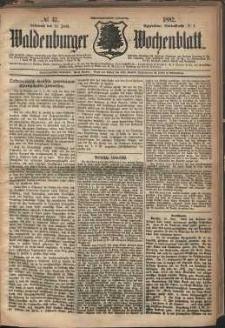 Waldenburger Wochenblatt, Jg. 28, 1882, nr 47