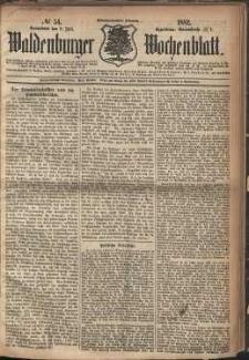 Waldenburger Wochenblatt, Jg. 28, 1882, nr 54