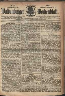 Waldenburger Wochenblatt, Jg. 28, 1882, nr 55
