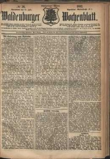 Waldenburger Wochenblatt, Jg. 28, 1882, nr 56