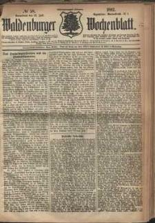 Waldenburger Wochenblatt, Jg. 28, 1882, nr 58