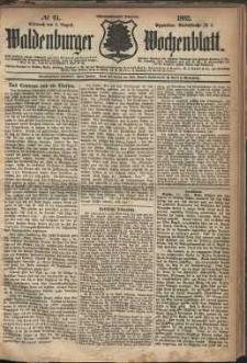 Waldenburger Wochenblatt, Jg. 28, 1882, nr 61