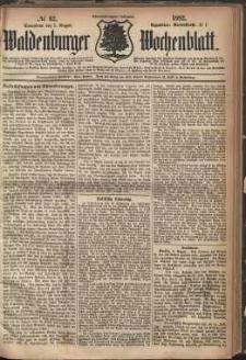 Waldenburger Wochenblatt, Jg. 28, 1882, nr 62