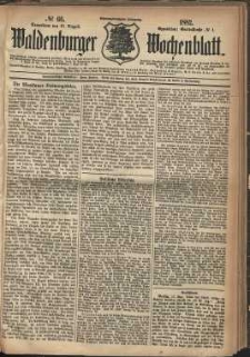 Waldenburger Wochenblatt, Jg. 28, 1882, nr 66