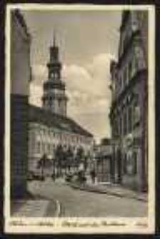 Ohlau i Schles. – Blick auf das Rathaus [Dokument ikonograficzny]